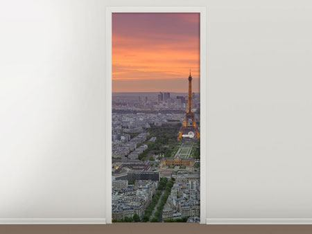 Door Mural Paris Skyline At Sunset