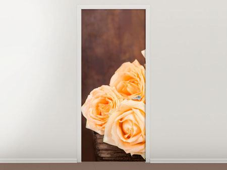 Door Mural Rose Time
