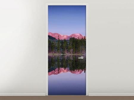 Door Mural Sprague Lake Rocky Mountains