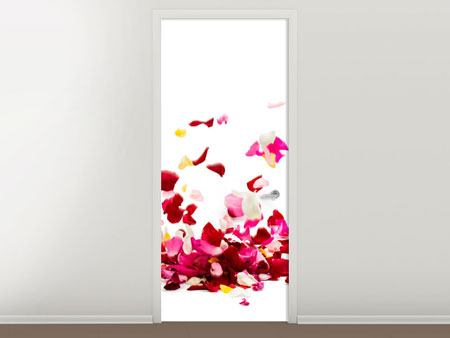 Door Mural Bed Of Rose Foliage