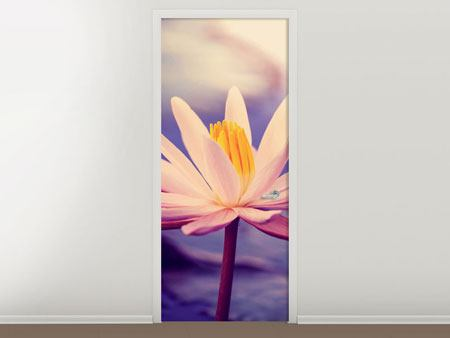 Door Mural Lotus At Sunset