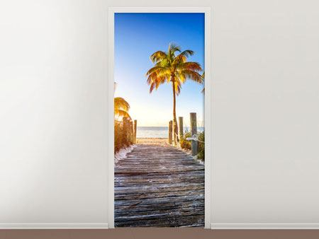 Door Mural Beach Away