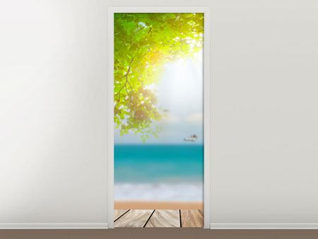 Door Mural Beach Terrace