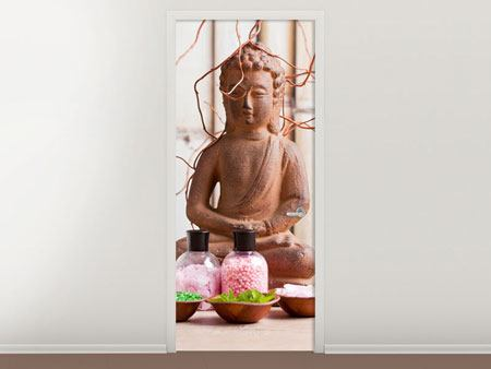 Door Mural Buddha & Wellness