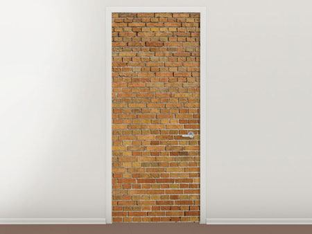 Door Mural Brick Background