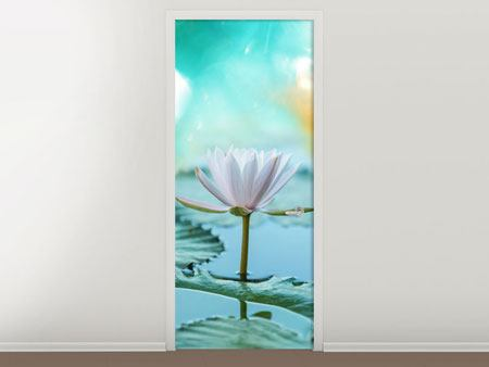 Door Mural Dreamy Lotus