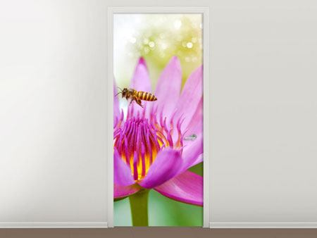 Door Mural The Lotus With Bee