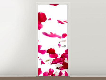 Door Mural Let It Rain Red Roses For Me