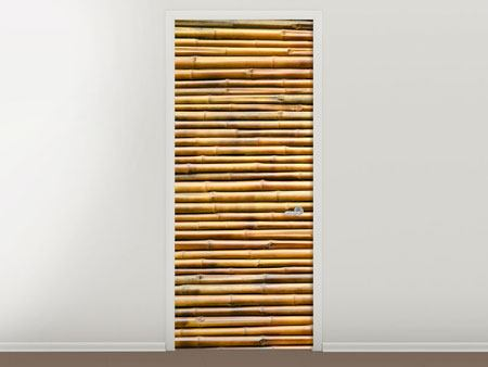 Door Mural Horizontal Bamboo Wall