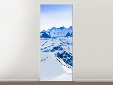 Door Mural The Swiss Alps