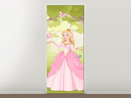 Door Mural Princess in the Wood