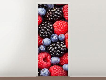 Door Mural Berries