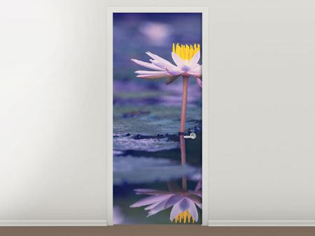 Door Mural Lotus Duo In Sunrise