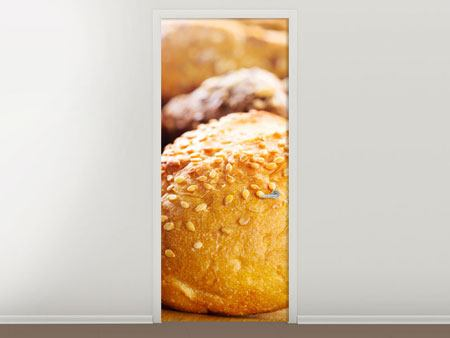 Door Mural Bread Roll