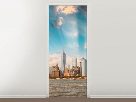 Door Mural New York, Skyline From The Other Side