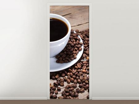 Door Mural Coffee