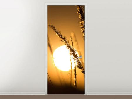 Door Mural Romantic Sunset