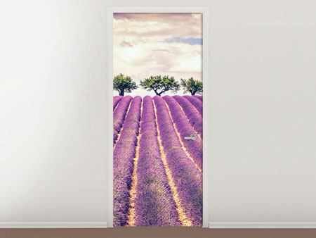 Door Mural The Lavender Field