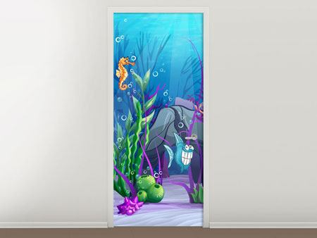 Door Mural Underwater Treasure Hunt