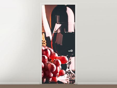 Door Mural Red Wine