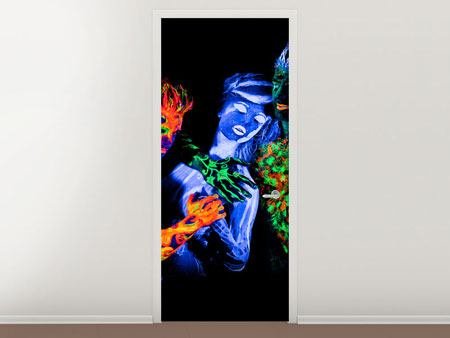 Door Mural Bodypainting