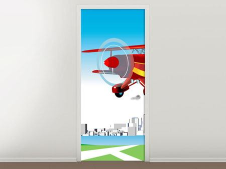Door Mural Flying Aircraft