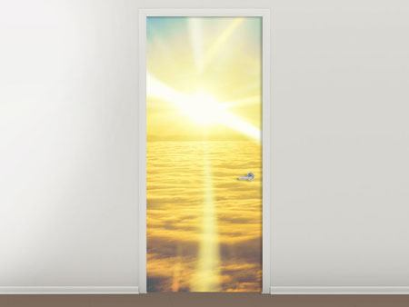 Door Mural Sunset Above The Clouds