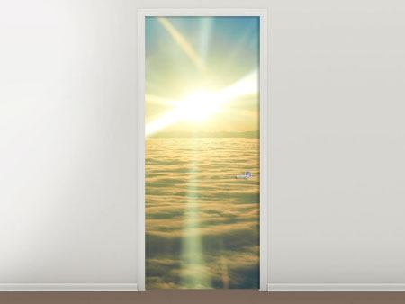 Door Mural Sunrise Above The Clouds
