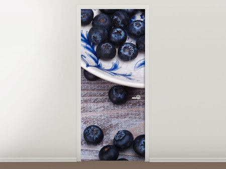 Door Mural Blueberries