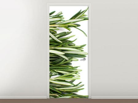 Door Mural Sprigs Of Rosemary