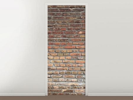 Door Mural Red Brick Wall