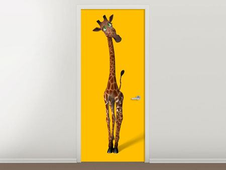 Door Mural Sweety Giraffes