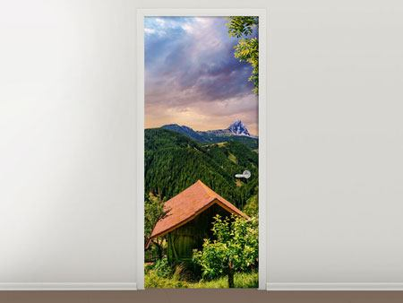 Door Mural Swiss Mountains In Summer
