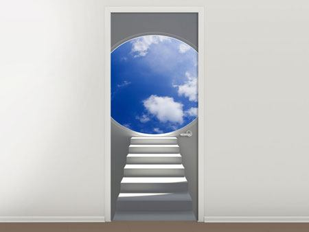 Door Mural Stairway To Heaven