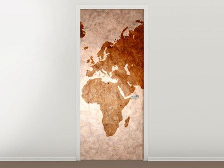 Door Mural Vintage Map Of The World