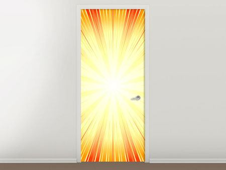 Door Mural Abstract Retro Sun