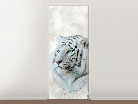 Door Mural Tiger Painting