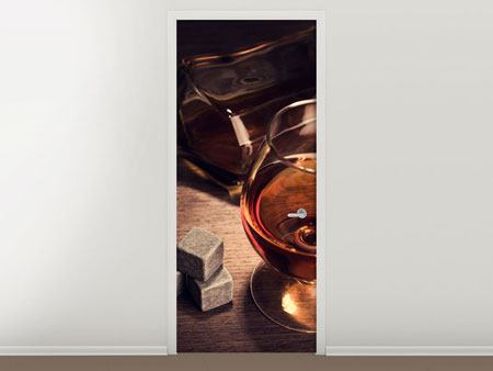 Door Mural A Glass Of Cognac