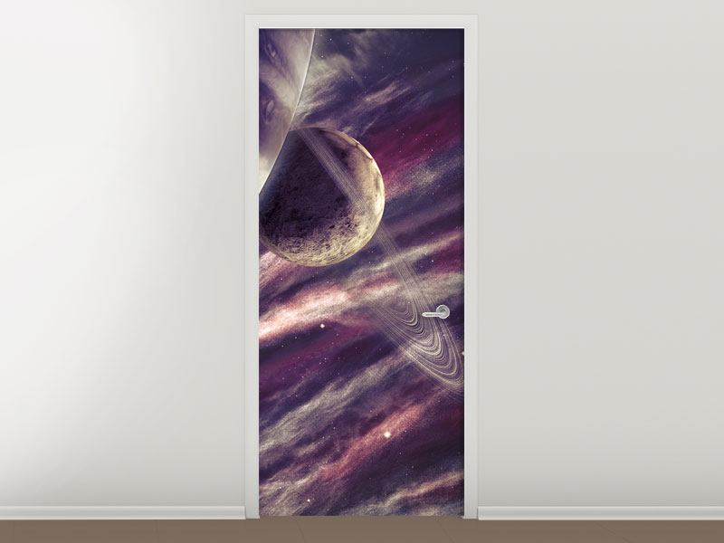 Door Mural Space Travel