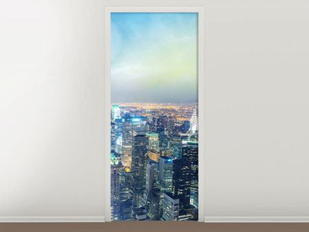 Door Mural Skyline NY At Sunset
