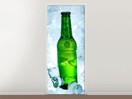 Door Mural Iced Beer