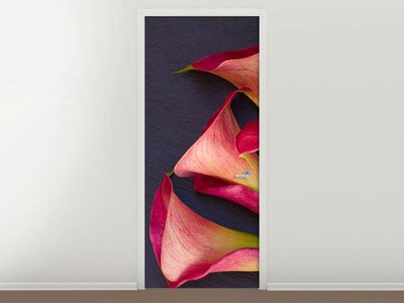 Door Mural Calla Bouquet