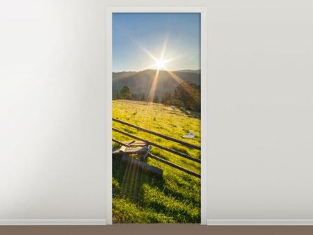 Door Mural Sunrise At Mountain