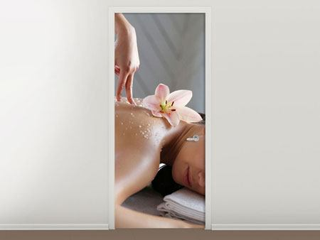 Door Mural Spa Massage