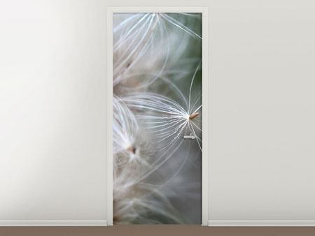 Door Mural Close up Flowers Fibers