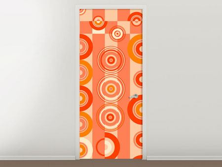 Door Mural Moving Retro Circles