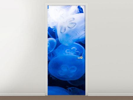 Door Mural Jellyfish