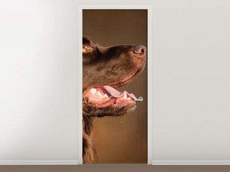 Door Mural The Hunting Dog