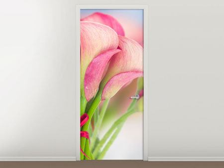 Door Mural Lilies Bouquet