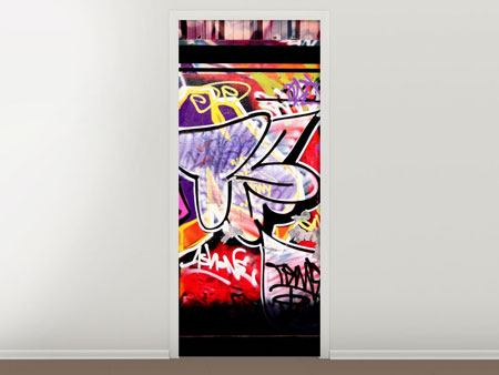 Door Mural Graffiti Wall Art